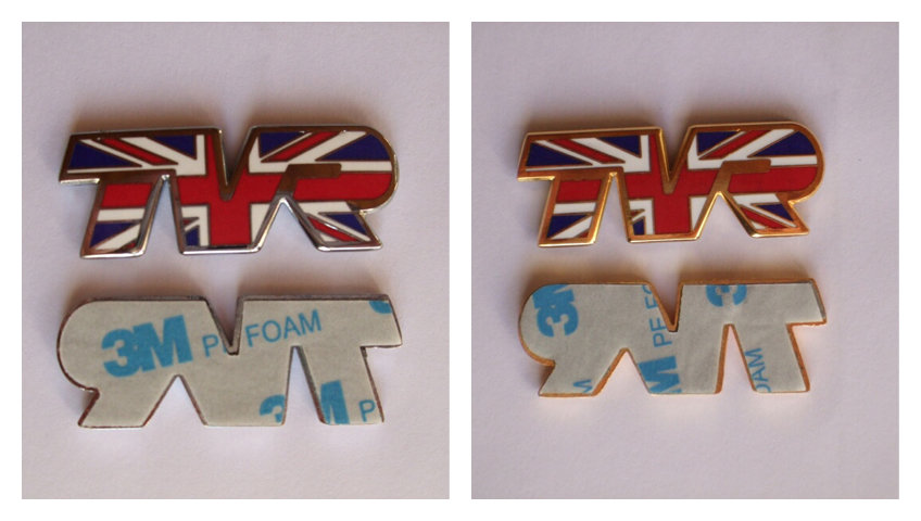 TVR Union Jack Badges indicator sides