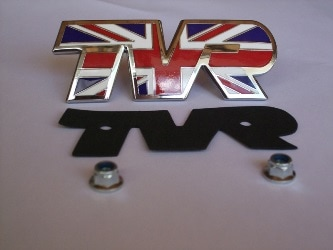 TVR Union Jack Bonnet badge