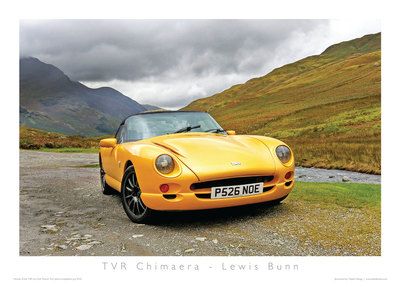 TVR Car Club Photo Competition winner Chimaera