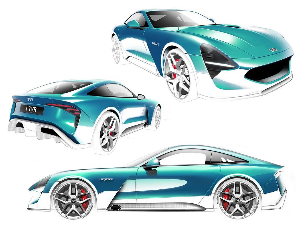 New TVR Griffith styling sketches from Gordon Murray Design