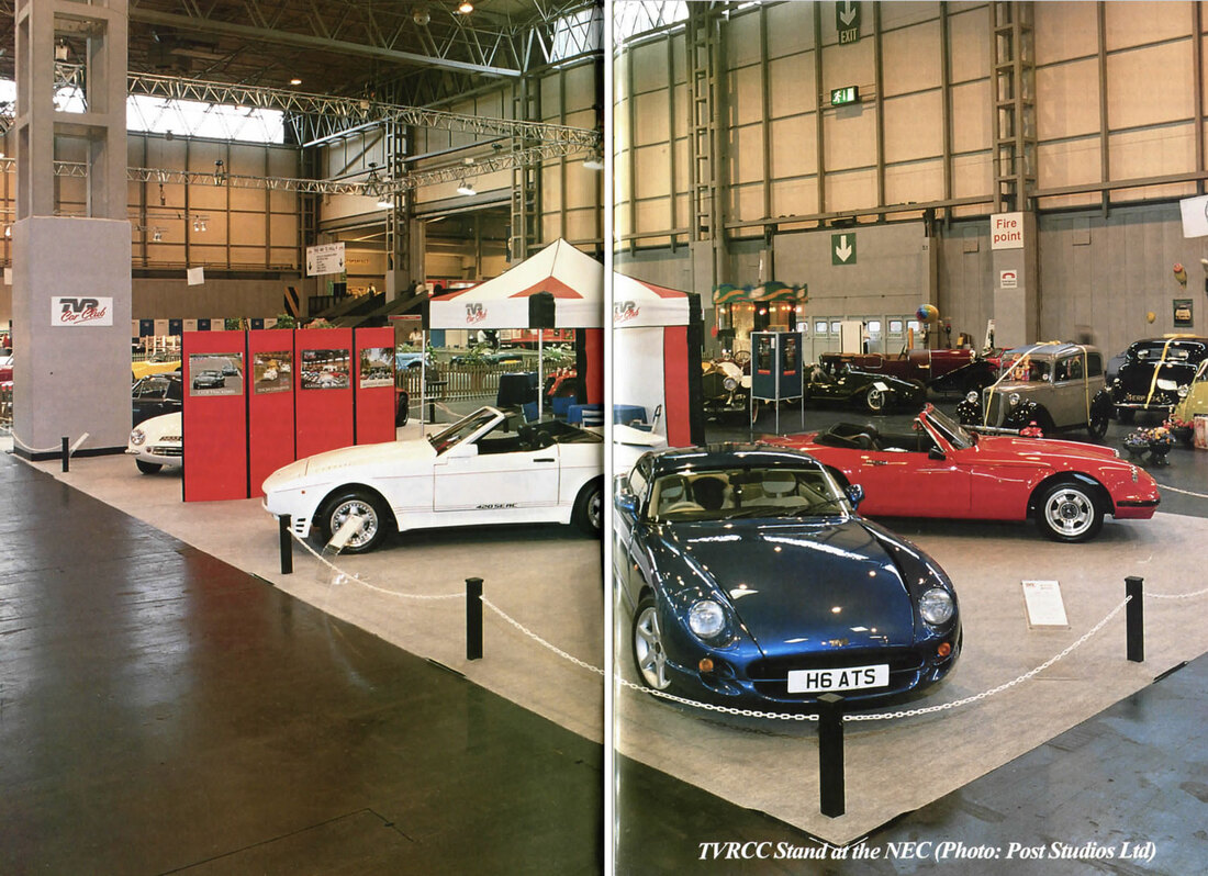 TVR Car Club stand 1999 Classic and sports car show NEC
